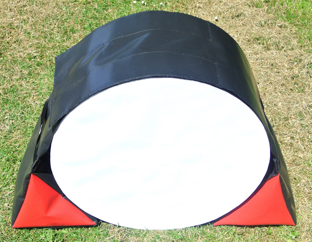 Dog Agility Tunnel Sandbags Adjustable In Black And Red