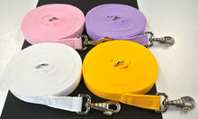 Load image into Gallery viewer, 30ft 9m Horse Lunge Line Large Dog Training Lead 25mm Cushion Webbing In Various Colours