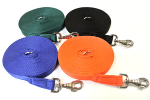 Horse lunge line dog training lead 20ft in 4 colours