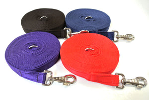 Horse lunge line dog training lead 30ft in 4 colours