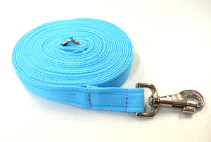 30ft 9m Horse Lunge Line Large Dog Training Lead 25mm Cushion Webbing In Various Colours