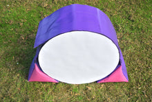Load image into Gallery viewer, Dog agility tunnel sandbags in purple and cerise