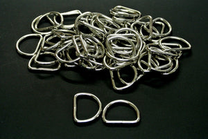 25mm Welded D-Rings 3mm Thick Nickel Plated For Bags Straps Dog Leads Crafts x10 x25 x50 x100