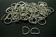 Load image into Gallery viewer, 25mm Welded D-Rings 3mm Thick Nickel Plated For Bags Straps Dog Leads Crafts x10 x25 x50 x100