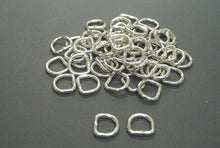 Load image into Gallery viewer, 13mm Welded D-Rings 3mm Thick Nickel Plated For Bags Straps Dog Leads Crafts x10 x25 x50 x100