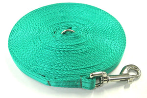5ft-50ft Dog Training Lead In Emerald Green