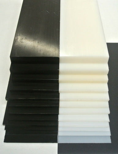 HDPE Flat Black White Engineering Plastic Sheet 1mm-20mm Thick 100mm Wide Various Lengths