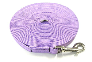 5ft - 50ft Dog Training Lead Obedience Recall Leash Long Dog Lead 20mm Cushion Webbing