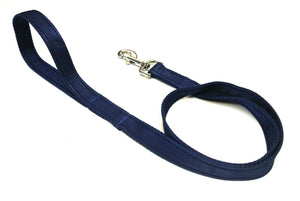 "45"" Short Dog Walking Lead Leash 20mm 25mm Wide Cushion Webbing In 16 Colours"