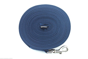 80ft Dog Training Lead 25mm Webbing In Navy