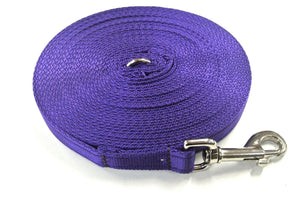 5ft-50ft Dog Training Lead In Purple