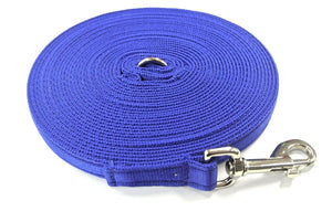 5ft-50ft Dog Training Lead In Royal Blue
