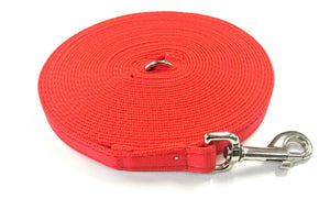 5ft-50ft Dog Training Lead In Red