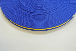 25mm Air Webbing In Various Lengths In Blue And Yellow