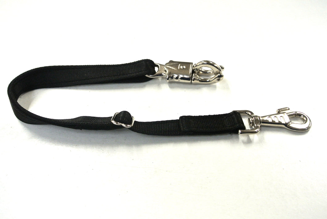 Adjustable Panic Hook Safety Strap For Horse Control In Black
