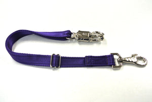 Adjustable Panic Hook Safety Strap For Horse Control In Purple