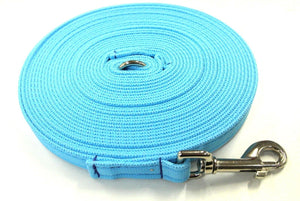 5ft-50ft Dog Training Lead In Sky Blue