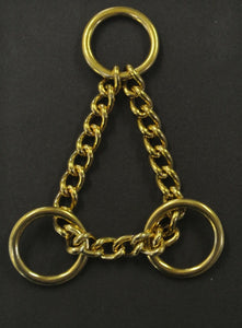 Solid Brass Half Check Chains For Dog Collars