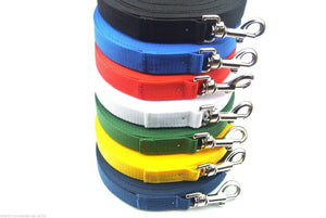 200ft 60m Long Dog Training Lead Obedience Leash Recall Large In 7 Colours 25mm