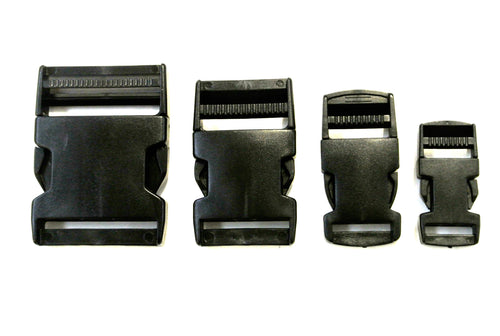 20mm 25mm 40mm 50mm Black Plastic Side Release Buckles For Webbing Bags Straps