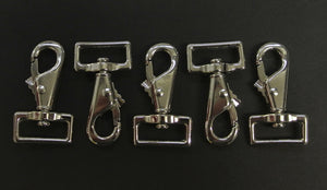 "1""/25mm Snap clip horse rug repair x 5 nickel plated"