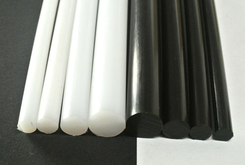 HDPE Rod Black White Engineering Plastic Round Bar Billet Spacer 10mm-20mm