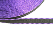 Load image into Gallery viewer, 20mm Webbing In Black And Purple In Various Lengths