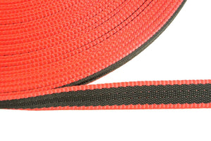 20mm Webbing In Black And Red In Various Lengths