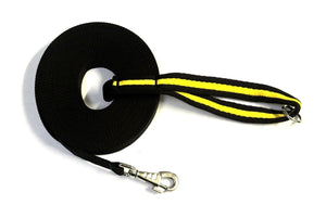 Black 50ft Dog Training Lead With Padded Handle