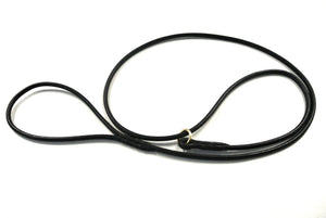 Genuine Round Leather Dog Show Slip Leads In Brown Or Black In Various Lengths Handmade In The UK By Church Products UK®