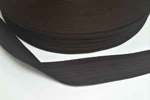 76mm Soft Polyester Air Webbing Black And Brown For Horse Rug Repair Straps 1m, 2m, 5m, 10m and 25m