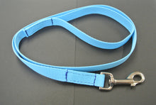 "Load image into Gallery viewer, 76"" Long Puppy Dog Walking Lead Leash 20mm Wide Strong Durable Webbing In 20 Colours"