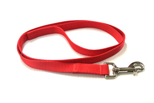"76"" Long Puppy Dog Walking Lead Leash 20mm Wide Strong Durable Webbing In 20 Colours"