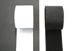 Self Adhesive Stick On Hook And Loop Tape White Black 25 Metre Rolls In 20mm 25mm 38mm 50mm