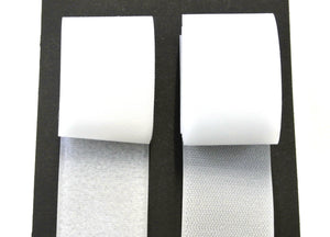 Sew On Hook And Loop Tape White Black 25 Metre Rolls In 16mm 20mm 25mm 50mm 100mm