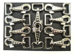 25mm Fluted Heavy Duty Trigger Clips Hooks Nickel Plated For Dog Leads Webbing Bags Straps