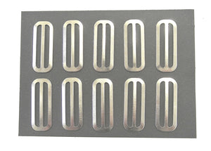 Metal 3 Bar Slides Nickel Plated 13mm 20mm 25mm 32mm 40mm 50mm x 10 x 50 For Bags Straps Webbing