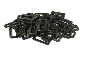 38/40mm Plastic 2 Bar Loop Buckles For Webbing Straps Handles Bags Crafts
