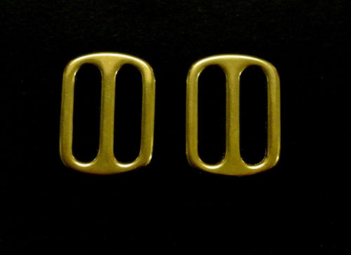 25mm Solid Brass 3 Bar Slides For Leather Crafts Horse Reigns Dog Collars Webbing