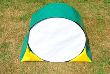Load image into Gallery viewer, Dog agility tunnel sandbags in green and yellow
