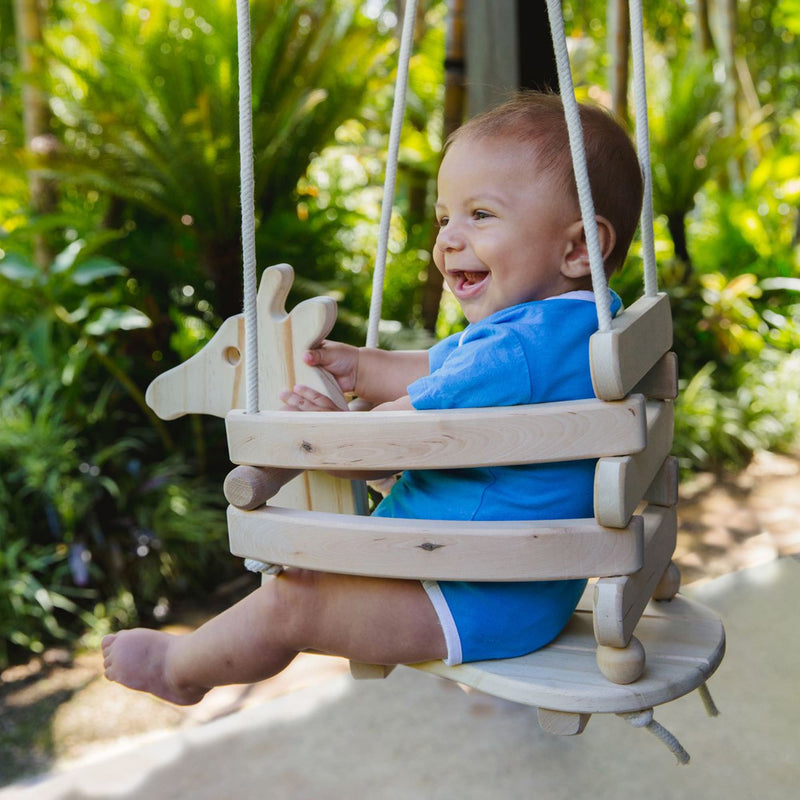 Wooden Baby & Toddler Swing - Giraffe