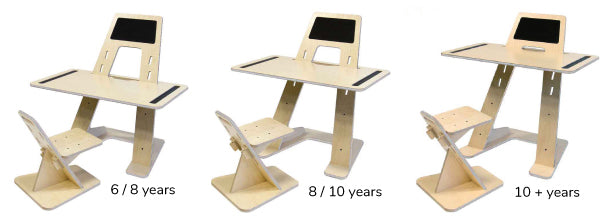 """Grow-With-Me"" Kids Desk and Chair Set - Blackboard"