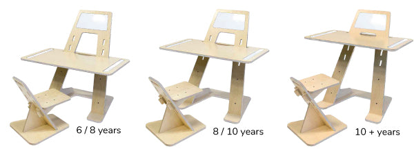 """Grow-With-Me"" Kids Creativity Desk and Chair Set - Whiteboard"