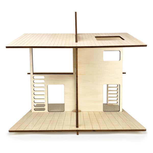 Sunnyside Portable Wooden Dollhouse - by Wishwood