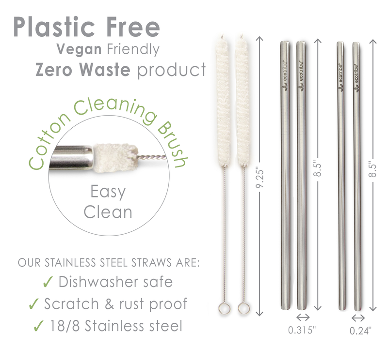 Stainless Steel Straws - Replacement Set
