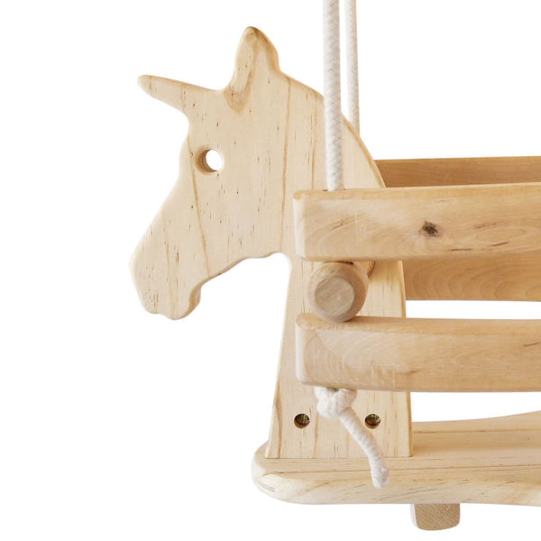 Wooden Baby & Toddler Swing - Unicorn
