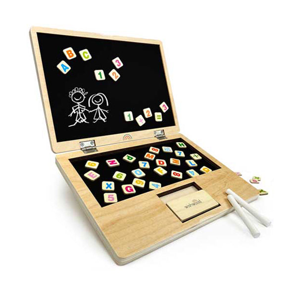 Whiz Kid Wooden Magnetic Chalkboard - By Wishwood