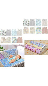 Fareto Baby gift pack Jhabla 8 pcs and 4 plastic changing sheet(Assorted)(0-6months)