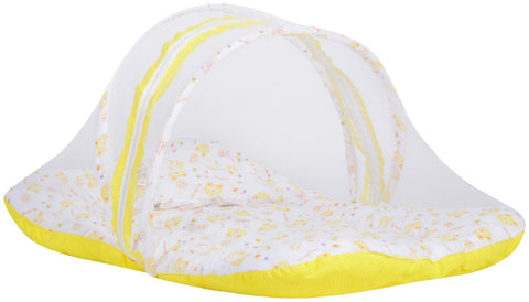 Fareto Baby Yellow Mosquito Net Bed(Size- 32*18 Inchs)(0-6 Months)