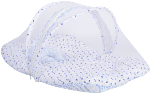 Fareto Baby Blue Mosquito Net Bed(Size- 32*18 Inchs)(0-6 Months)